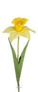 Jonquille artificielle fleur des champs en tissu H 60 cm D 13 cm