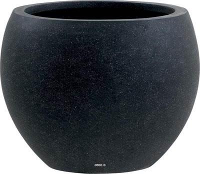 Bac Fibre de verre et composite Teras Exterieur Boule D 36 xH 28cm Noir