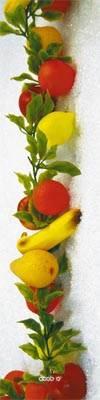 Guirlande de fruits assortis artificiels en Plastique soufflé L 2 m