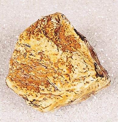 Pierre artificielle jaune type petit en Plastique soufflé L 110x100 mm