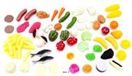 Aliments petite nourriture assortis en lot de 72 en Plastique soufflé