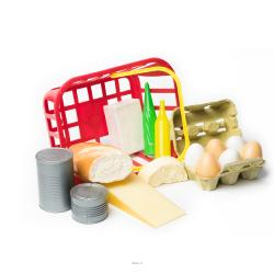 Panier de 15 aliments nourriture artificielle en plastique souffle