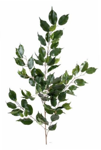 Branche de feuillage Ficus artificiel H 108 cm 101 feuilles