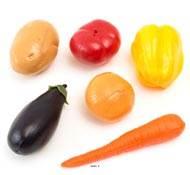 Legumes artificiels assortis en lot de 6 en Plastique soufflé