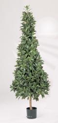 Laurier Pyramide artificiel luxe H 110 cm 1258 feuilles en pot