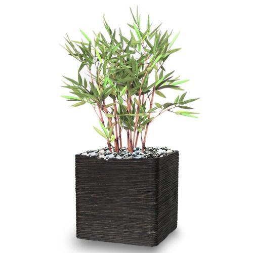 Bambou Artificiel finition mousse verte H 60 cm Vert