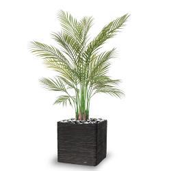 Palmier Areca artificiel multi troncs feuillage plastique H 125 cm