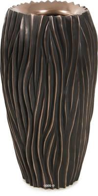 Bac plastique et particules de métal Ø 38 cm H 70 cm Ext. bullet bronze vague