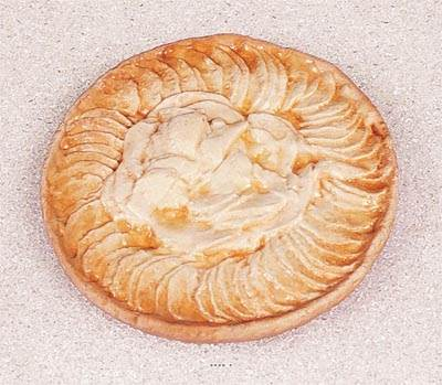 Tarte aux pommes artificielle en Plastique soufflé D 21 cm