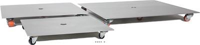 Plateau Acier inox roulant Ext. 125 kg L 40x 40