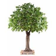 Platane arbre artificiel H 350 cm L 290 cm Tronc bois et fibre de verre sur platine