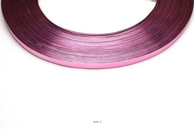 Fil aluminium Plat Rose souple lg 5 mm L 10 metres decoration