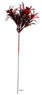Pic d'Herbe et baies Rouges artificielles en plastique 7 tetes H 29 cm