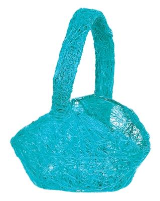 Panier en sisal Turquoise D 13 x 9 x 22 cm