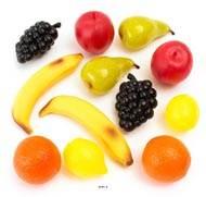 Fruits artificiels assortis en lot de 27 en Plastique soufflé