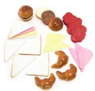 Snacks saucisses artificiels assortis en lot de 24 en Plastique soufflé