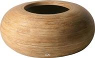 Bac Fibre de verre Rattan Int. Boule plate D 60 x H 26 cm Sable