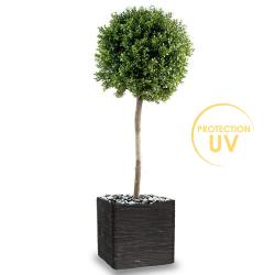 Buis boule artificiel en pot,  Anti UV, H 140 cm D 50 cm