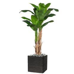 Bananier artificiel 2 troncs en piquet H 170 cm Vert