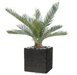 Palmier Cycas Artificiel en pot H 50 cm Vert