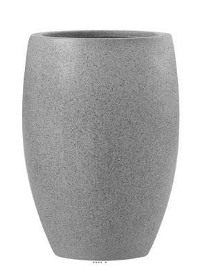 Bac Fibre de verre et composite Teras Exterieur Bullet D 33 xH 47cm Gris