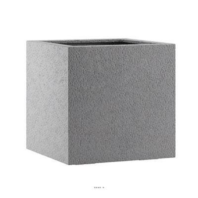Bac fibres de verre et composite Ext. cube 57 cm 57 cm H 57 cm gris foncé