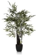 Bambou Zen artificiel 5 cannes noires 150CM 960 feuilles