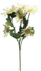 Marguerites artificielles en branche H 68,5 cm Crème