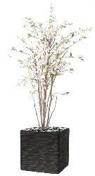 Cerisier en fleurs artificiel 10 troncs bois en pot H 150 cm