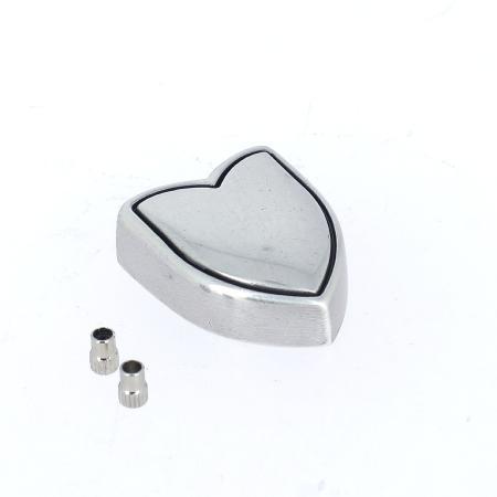 Embout de ceinture NOE - ARGENT VIEILLI - 20 mm