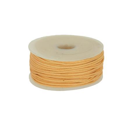 Bobine 25 m lacet coton tressé ciré 1 mm - BEIGE