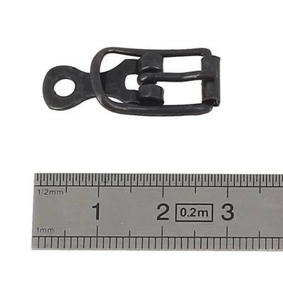 Boucle à ardillon avec chape et rouleau - BRONZE - 8 mm