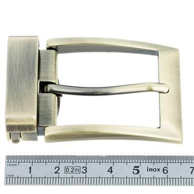 Boucle de ceinture à griffe NAM - LAITON VIEILLI SATINÉ - 35 mm