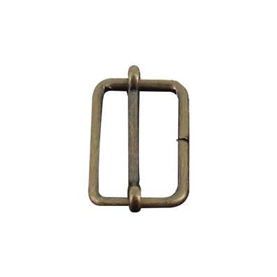 Boucle coulissante - Laiton vieilli - 20 x 12 mm - Fil 2,3 mm