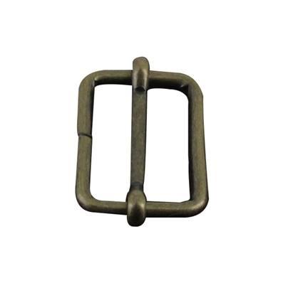 Boucle coulissante - Laiton vieilli - 30 x 22 mm - Fil 3,8 mm