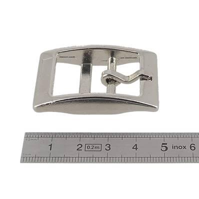 Boucle double KIM - NICKELE - 20 mm
