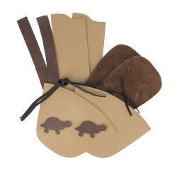 Kit chaussons en cuir pour bébé - Caramel / Chocolat / Tortue