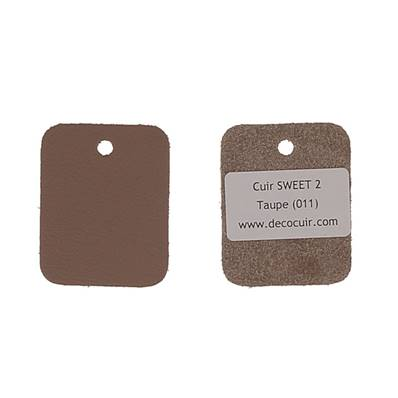 Un échantillon de cuir de vachette SWEET 2 - TAUPE
