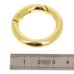Mousqueton rond - DORÉ CLAIR - Diamètre 26 mm