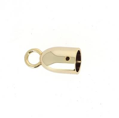 Cloche à pompon - DORÉ - 14 mm