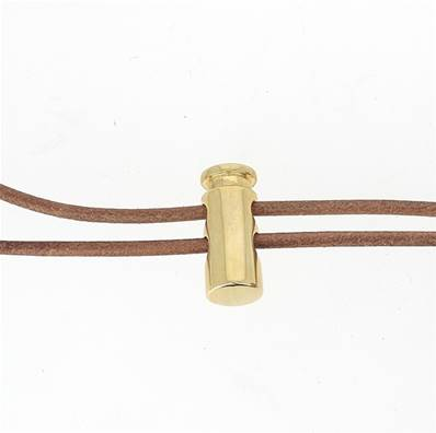 Fermoir stop lacet - DORÉ - Lacet de 3 mm