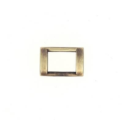 Passant rectangulaire plat - LAITON VIEILLI SATINÉ - 15x10 mm