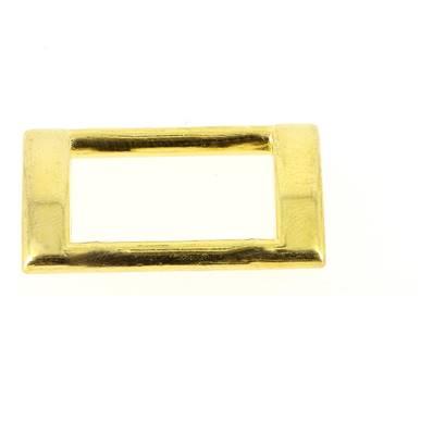 Passant rectangulaire plat - DORÉ - 20 x 13 mm