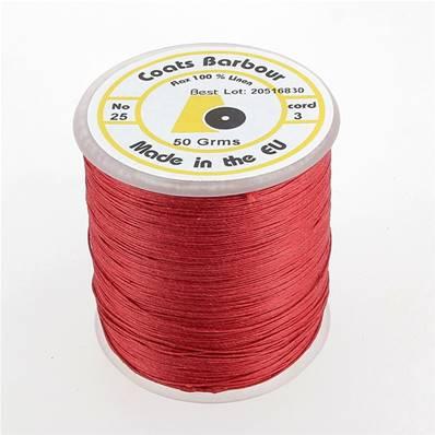 Bobine de fil de lin satiné COATS BARBOUR - 25/3 - 532 - ROUGE