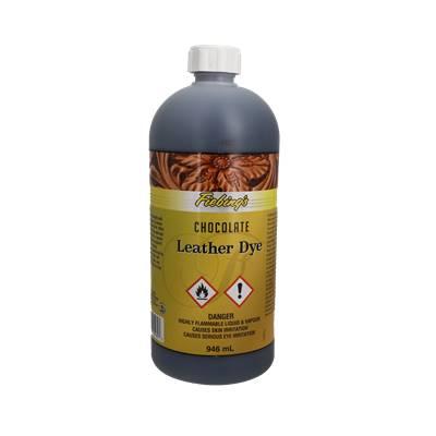 Teinture pour cuir FIEBING'S Leather dye - CHOCOLAT - CHOCOLATE - Bidon de 946ml