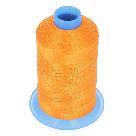Bobine de fil polyester retors N° 30 - 400 mètres - ORANGE