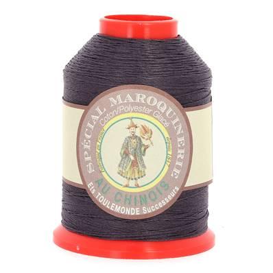 Fil Spécial Maroquinerie polyester coton - 28/4 - 0,52 mm - AUBERGINE