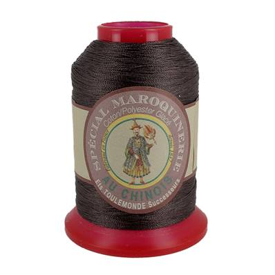 Fil Spécial Maroquinerie polyester coton - 28/2 - 0,38 mm - CHOCOLAT