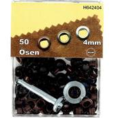 Kit Oeillets en étoile et outil de pose - 4 mm - VIEUX CUIVRE