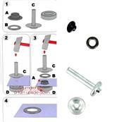 Kit Oeillets à rouler et outil de pose - 5 mm - NOIR